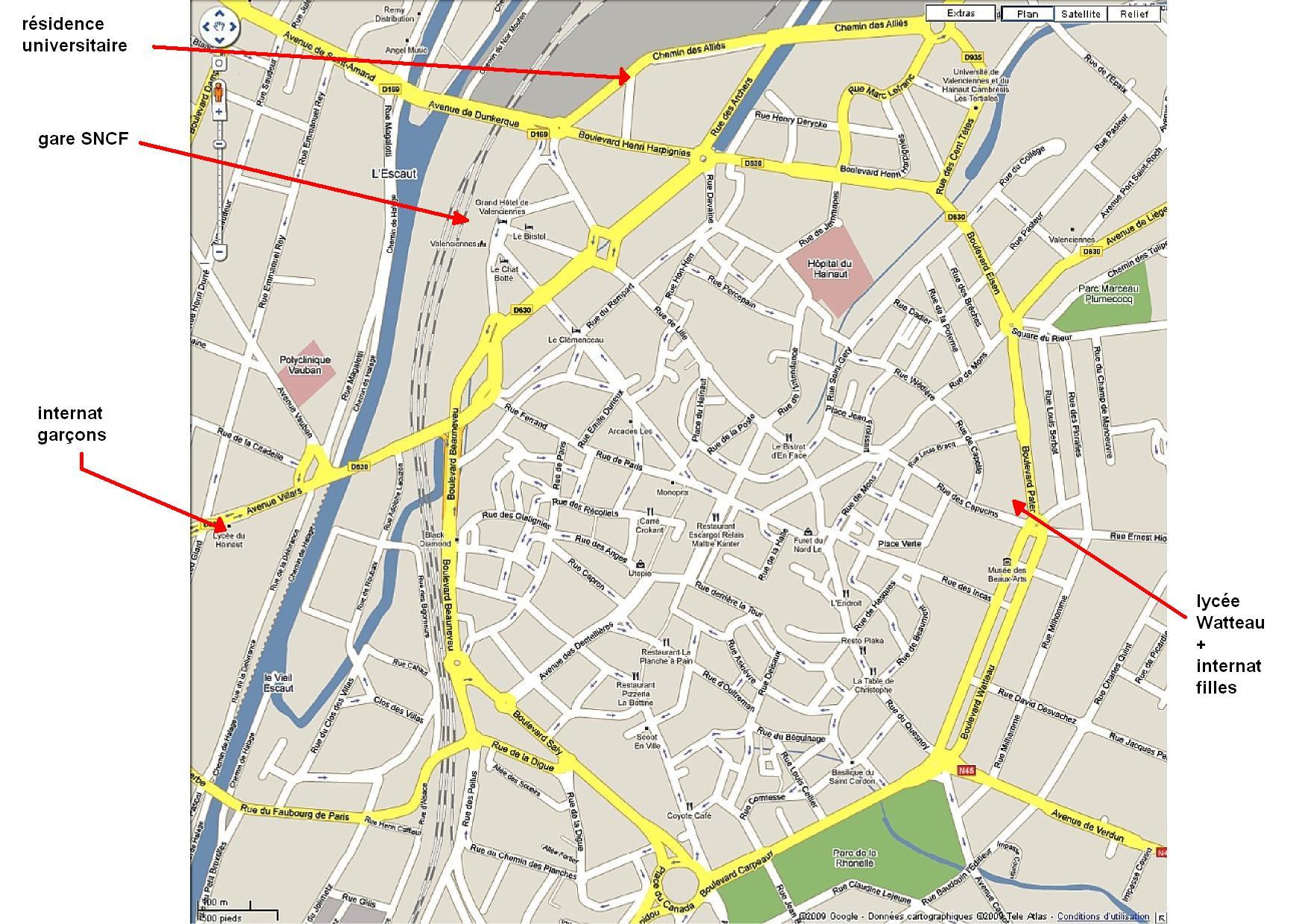 plan du cul Valenciennes